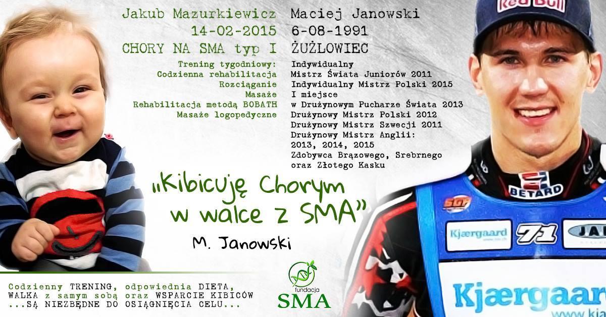 31 Sierpnia: Maciej Janowski Kibicuje W Walce Z SMA